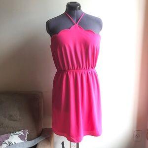 Monteau Pink Scallop Dress